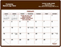 Brown Magnetic Agent Calendar