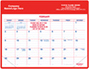 Red Magnetic Agent Calendar