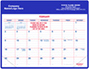 Royal Blue Magnetic Agent Calendar