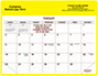 Yellow Magnetic Agent Calendar