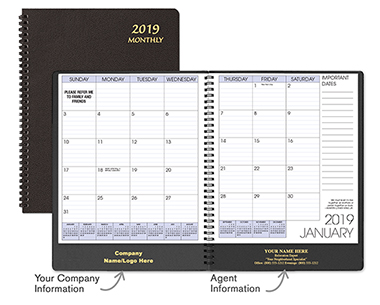Black Monthly Planner