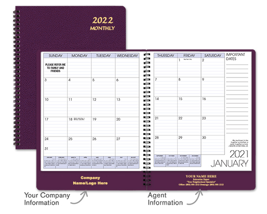 Cabernet Monthly Planner