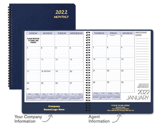 Navy Monthly Planner